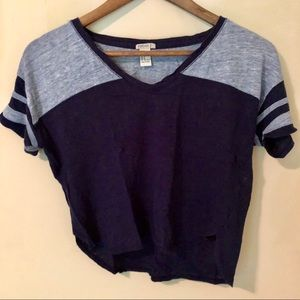 Forever 21 Blue Crop Top - Small